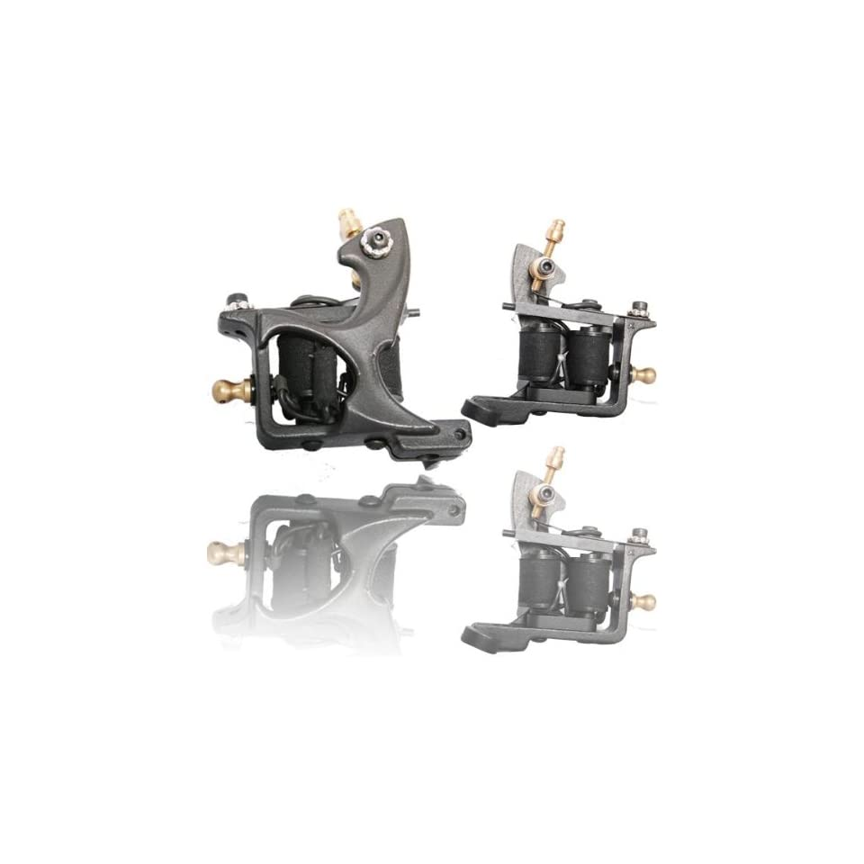 strong Tattoo Machine 10 coils GUN SHADER LINER kit F Ink/Tip/Needle Supply e010776