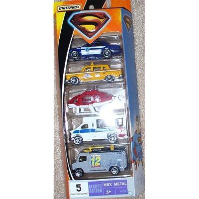 Returns Metropolis Vehicles 5 Pack of 1:64 Scale Die Cast Cars