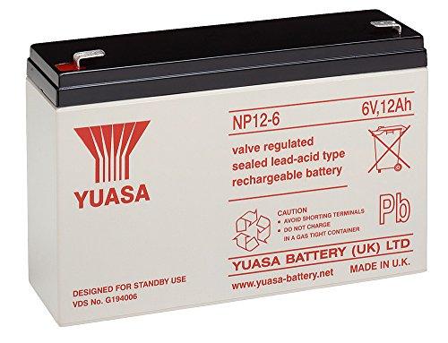 Batterie ploMB yuasa) (yuasa nP 12-6: faston 250 6,3 mm) 151 mm