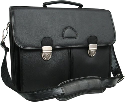 AmeriLeather World Class Leather Executive Brief BlackB00015GEKO : image