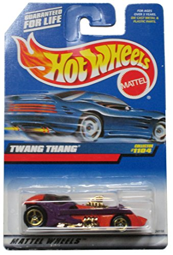 Mattel Hot Wheels 1999 1:64 Scale Orange & Purple Twang Thang Die Cast Car Collector #1104 - 1