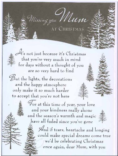 Grave Card - Missing You Mum At Christmas - Free