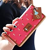 Vovotrade(TM) Hot Sale!! Elegant Lady Women Long Purse Clutch Wallet Zip Bag Card Holder (hot pink)