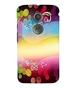 printtech Flower Bokeh Pattern Back Case Cover for Motorola Moto X2::Motorola Moto X (2nd Gen)