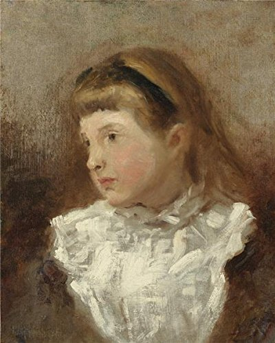 Oil Painting 'unknown,Little Girl With White Yoked Dress,ca.19th Century' 18 x 23 inch / 46 x 57 cm , on High Definition HD canvas prints is for Gifts And Bar, Bath Room And Home Theater decor, pop