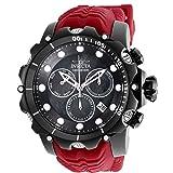 26247 - INVICTA Venom Men 55mm Stainless Steel Black White+Black dial 8172/220 Quartz Watch (Color: Black)