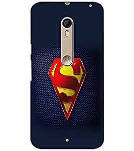PrintDhaba Superman Logo D-2098 Back Case Cover for MOTOROLA MOTO X STYLE (Multi-Coloured)