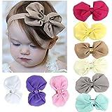 Malloom® 9PCS Babys filles en mousseline de soie Fleur Bandeau élastique Photographie Bandeaux