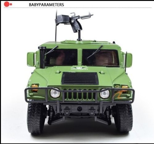 DLPJ 1:18 Iorn Military Hummer with Shocking Absorb Wheels Door Open and 360 Degree Gun Die cast Car Model Scale Car Model Alloy Car Model for Kids (Hummer Military Tires compare prices)