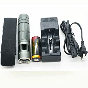 Trustfire A8 26650 1000lm Cree Xm-l Xml T6 Led Flashlight Torch Holster+charger