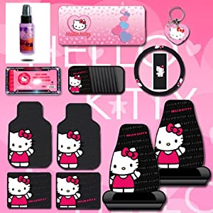 Amazon.com: New Design 12 Pieces Hello Kitty Car Seat Cover with 4