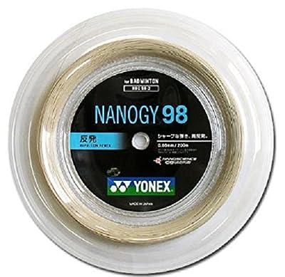 ヨネックス(Yonex) バドミントン ストリングス ナノジー 98 ロール 200m シルバーグレー(024) Nbg98-2