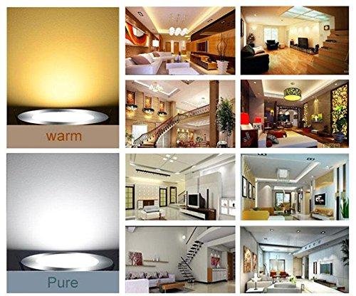 Keyzone Warm White E27 6W Cob Led Filament Transparent Bulb Globe Light Lamp Warm Pure White 220V