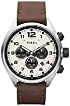Fossil CH2835 Flight Leather Watch, Brown