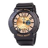 スポーツタイプ 子供学生防水30mジーショック腕時計 指針デジタル表示 アウトドア夜光キッズ腕時計
