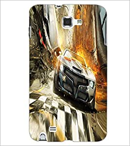 PRINTSWAG RACING CAR Designer Back Cover Case for SAMSUNG GALAXY NOTE 1 N7000