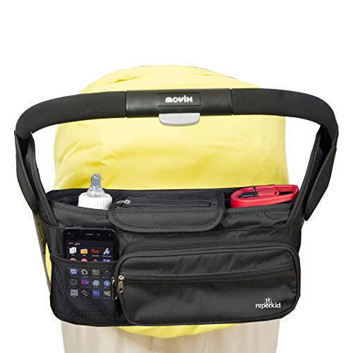 Stroller Organizer Bag - Large Capacity - Premium Baby Stroller Bags Fits All Types of Strollers - Comes w/ Smartphone & Dual Bottle Holder - Great Durability & Design (Baby Bumble Seat compare prices)