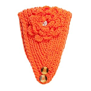 Auburn Tigers Colors Hand Knitted Soft Polyester Fabric Crocheted Head Wrap by Occasionally Made