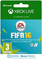Xbox Live 12 Month Gold Membership [Xbox Live Online Code] + 1 Month EA Access  [Online Game Code]