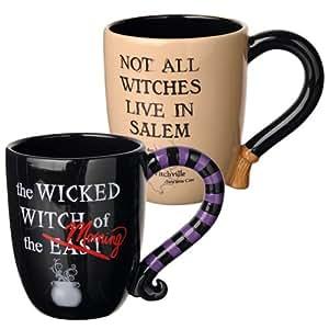 Grasslands road halloween witches mugs set for Grasslands road mugs