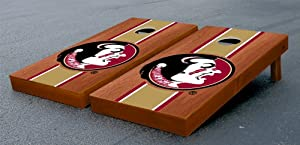 Florida State FSU Seminoles Cornhole Game Set Stained Stripe Version by Gameday Cornhole