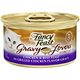 Fancy Feast Wet Cat Food, Gravy Lovers, Chicken & Beef Feast in Grilled Chicken Flavor Gravy, 3-Ounce Can, Pack of 24