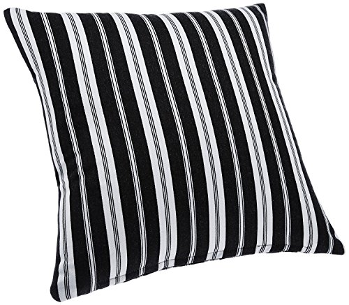 Blue Alcove Delhi Stripes Cushion Cover - Black and White (SGCC-19)