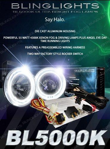 """Bl5000K White Halo Fog Lamps Driving Lights Kit Angel Eye Round 4"""" Diameter"""
