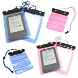 Blue / Pink Amazon Kindle Holiday Waterproof Protective Bag for Amazon Kindle - Kindle Keyboard - Kindle Touch - Kindle Fire - Mobile Phone - Camera - PDA (Pink)
