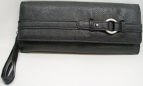Mundi 3 For All Wristlet /Clutch /Pebble Rock Wallet ~ Black