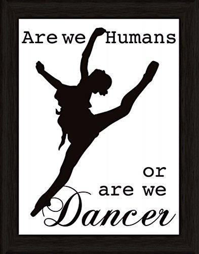 Bild mit Rahmen Kunstdruck Bilder Artland Schrift Jule: Tänzer in verschiedenen Größen Riesenauswahl in unsrem Händlershop!