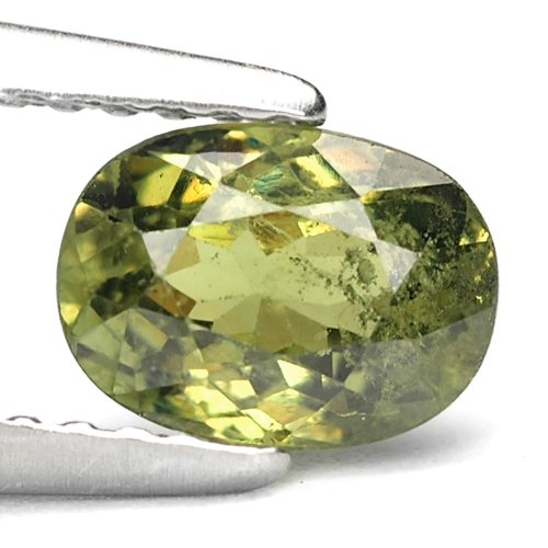 Gems Royal 1.08 Ct. Best Green Natural Demantoid Garnet Gem : 6.83 x 4.99 x 3.49 mm.