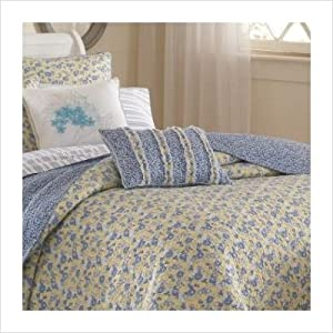 Laura Ashley Bedding Today Sales Laura Ashley Carlie Ruffled Breakfast Pillow Blue