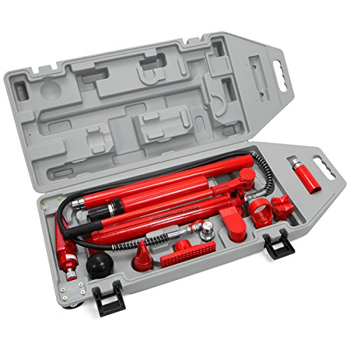 XtremepowerUS Hydraulic Porta Power Auto Body Frame Repair Kit ( 10 Ton or 4 Ton) (10 Ton) (Porta Power Hydraulic compare prices)