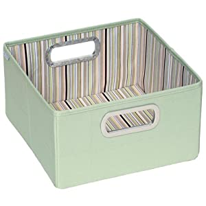 JJ Cole Collections Storage Box, Cocoa Stripe, 6.5""