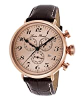 Lucien Piccard Men's LP-72414-RG-09 Trieste Analog Display Swiss Quartz Brown Watch by Lucien Piccard