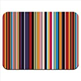 Modern Stripes Brown Cream Premium Quality Thick Rubber Mouse Mat Pad Soft Comfort Feel Finish