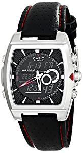 Casio Men's EFA-120L-1A1VDF Edifice Analog-Digital Display Quartz Black Watch
