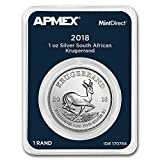 2018 South Africa 1 oz Silver Krugerrand (MintDirect Single) 1 OZ Brilliant Uncirculated