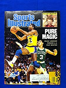 1987 Sports Illustrated Feb 23 Magic Johnson Los Angeles Lakers Excellent