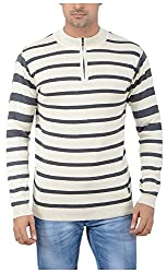 Globate Men's Blended Sweater (145 crm gry, Free Size)