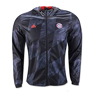 2016-2017 Bayern Munich Adidas Windbreaker Jacket (Black)