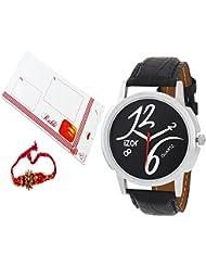 Rakshabandhan Gift For Brother,Black Dial Analogue Casual Wear Watch With FreeRakhi (Rakhi Designs May Vary) -...