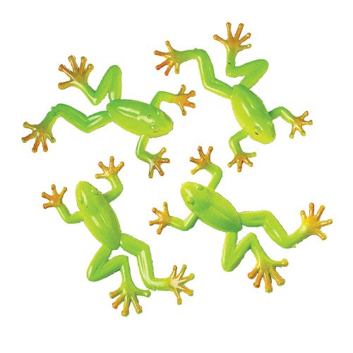 Lot Of 12 Realistic Mini Tree Frog Toy Figures