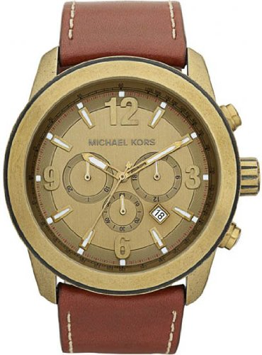 Michael Kors Men's MK8250 XL Runway Brown Watch