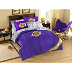 NBA Los Angeles Lakers 5-Piece Twin Size Bed Set - Purple by Northwest