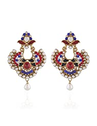 I Jewels Tradtional Gold Plated Elegantly Handcrafted Pair Of Fashion Earrings For Women. - B00N7IOKC6