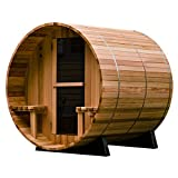 Almost Heaven Saunas 4-Person Canopy Barrel Sauna (Discontinued by Manufacturer)