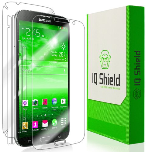 Iq Shield Liquidskin - Samsung Galaxy Mega 6.3 Screen Protector + Full Body (Front And Back) With Lifetime Replacement Warranty - High Definition (Hd) Ultra Clear Phone Smart Film - Premium Protective Screen Guard - Extremely Smooth / Self-Healing / Bubbl