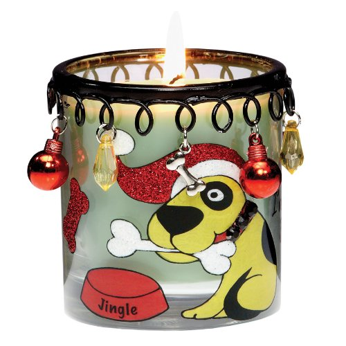 4 Charmbiance Holiday Hound Scented Soy/Parafinn Jar Votive Christmas Candles
